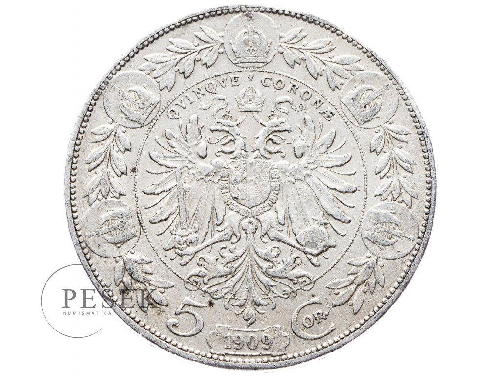 5391 5 koruna 1909 schwartz