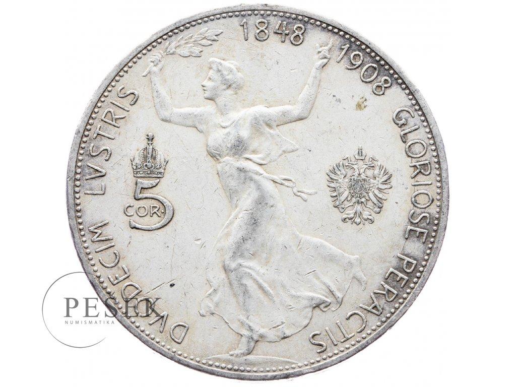 5403 5 koruna 1908 jubilejni