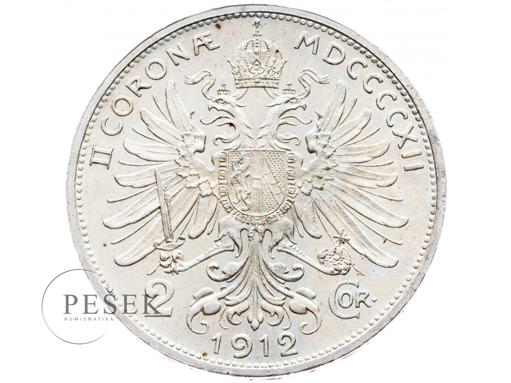 5688 2 koruna 1912 bz