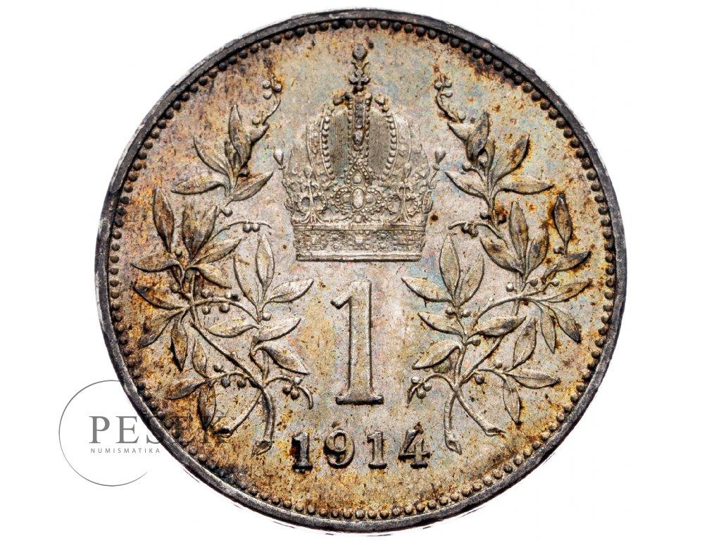 6483 1 koruna 1914 bz