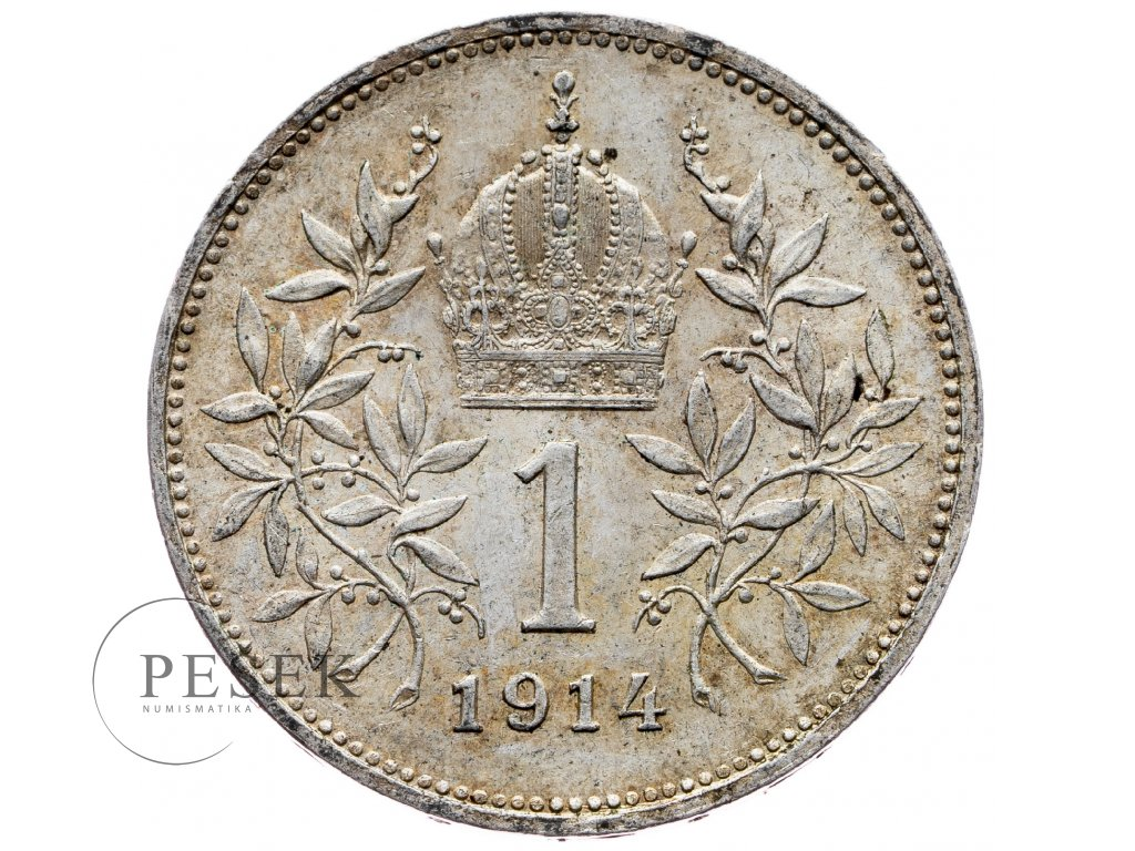 6486 1 koruna 1914 bz