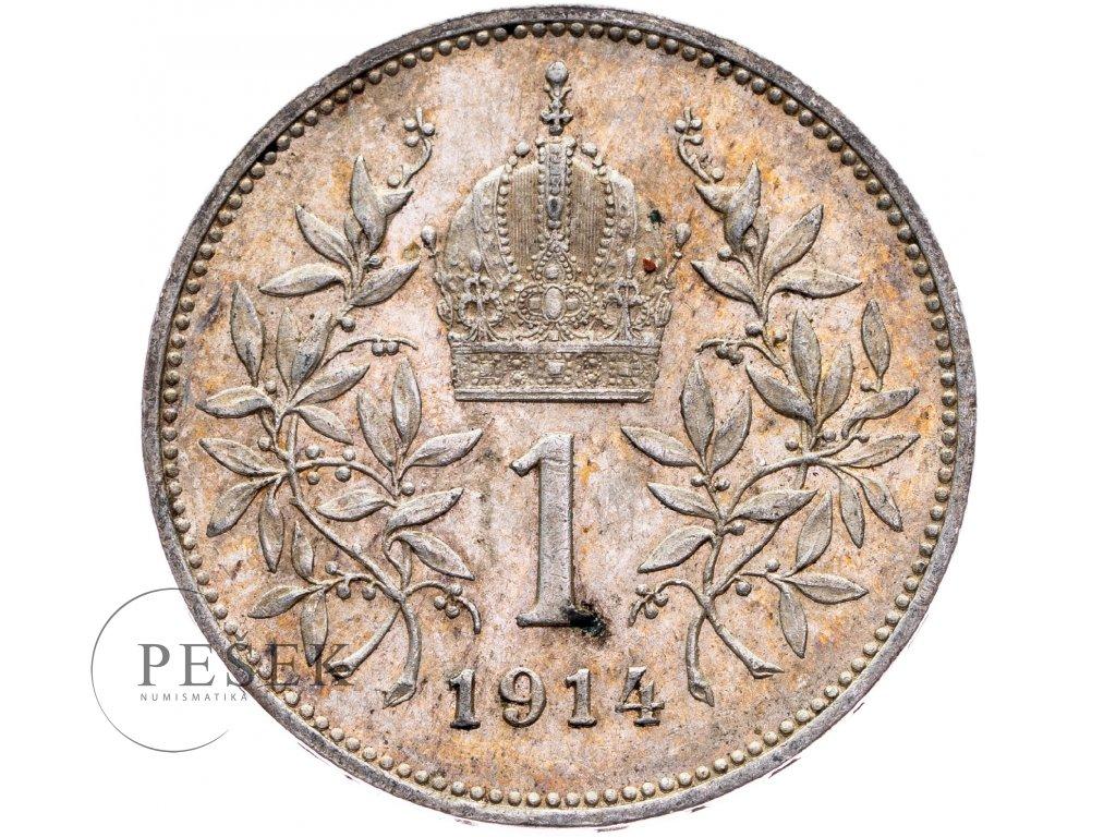 6489 1 koruna 1914 bz