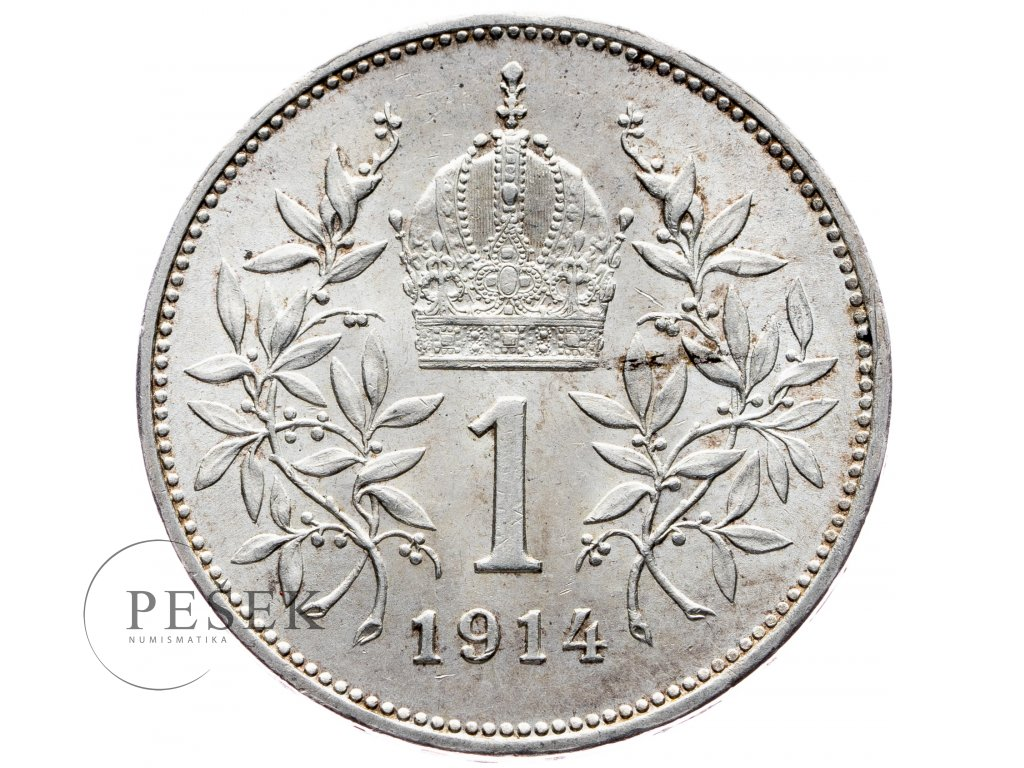 6498 1 koruna 1914 bz