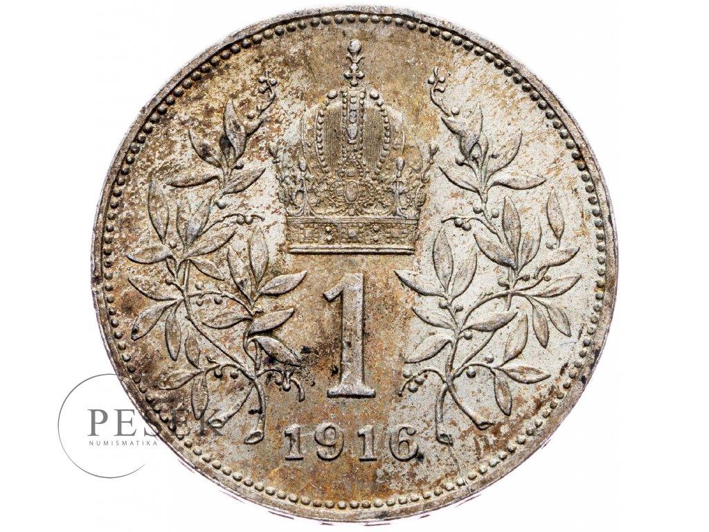 6525 1 koruna 1916 bz