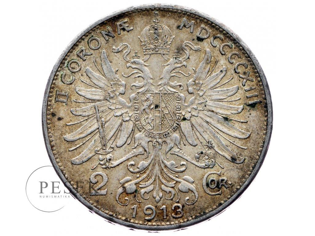 6606 2 koruna 1913 bz
