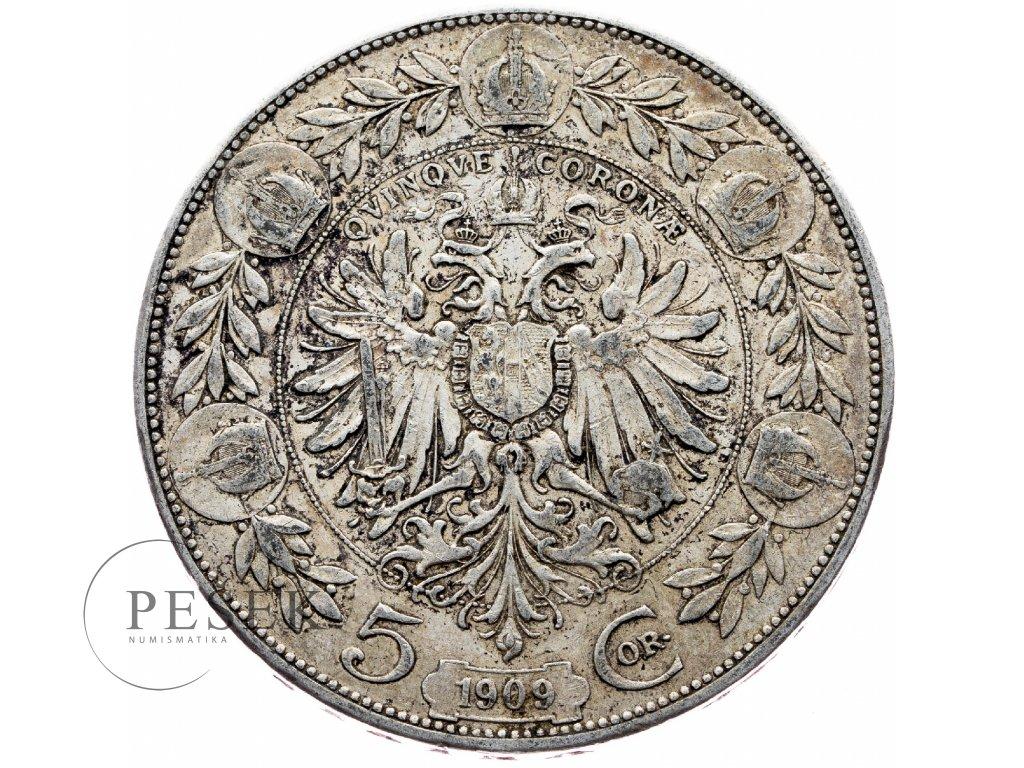 6639 5 koruna 1909 schwartz