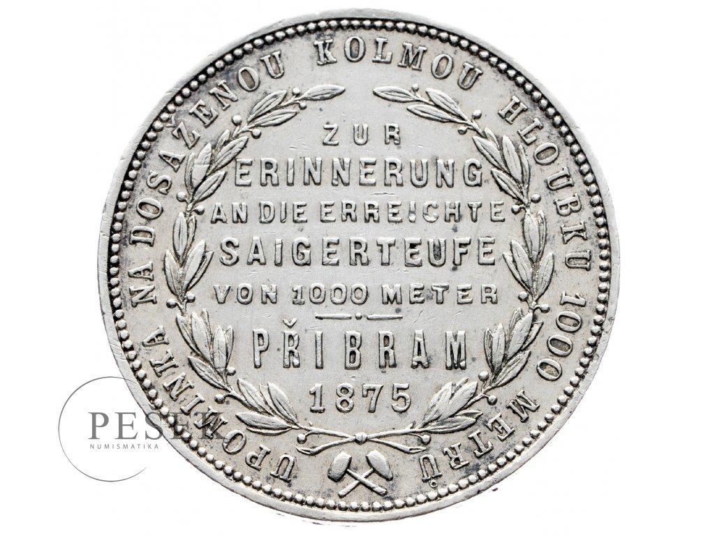 6903 pribramsky zlatnik 1875