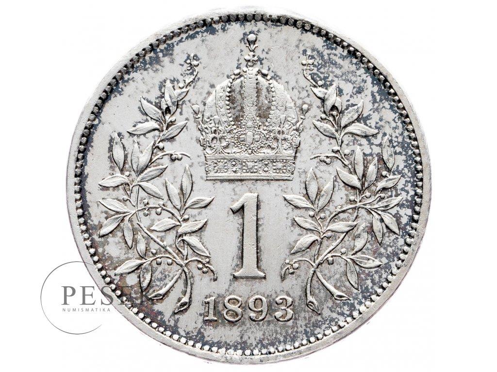 6912 1 koruna 1893 bz