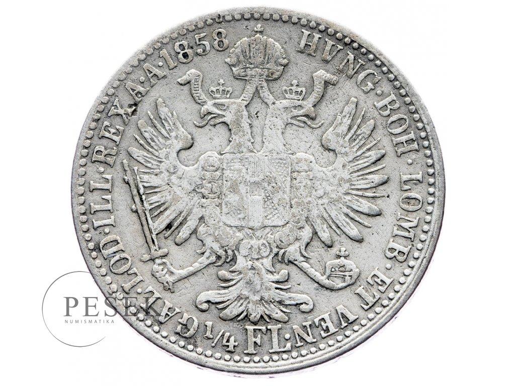 6996 1 4 zlatnik 1858 v