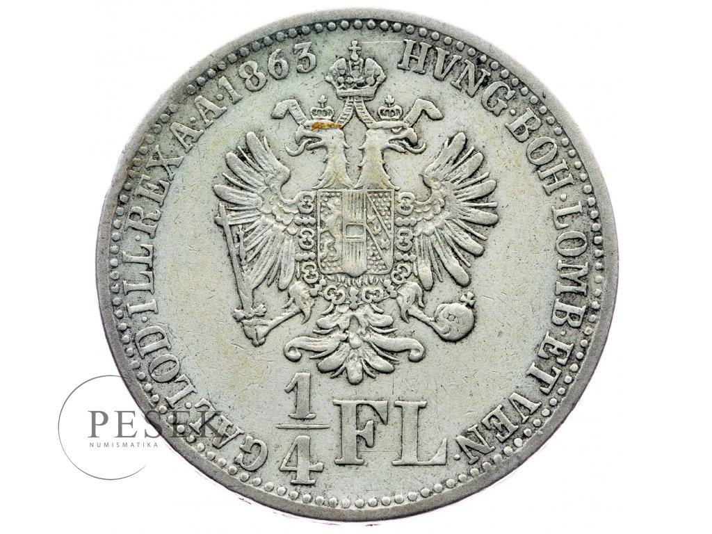 7008 1 4 zlatnik 1863 v