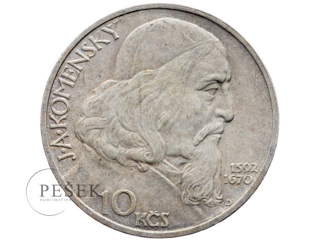 7254 10 koruna 1957 j a komensky