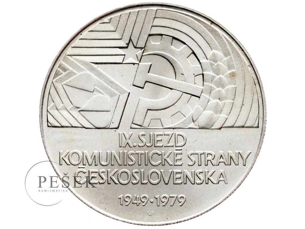 7356 50 koruna 1979 ix sjezd ksc