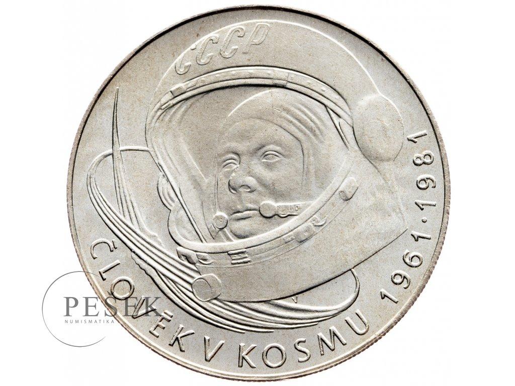 7371 100 koruna 1981 clovek v kosmu j a gagarin