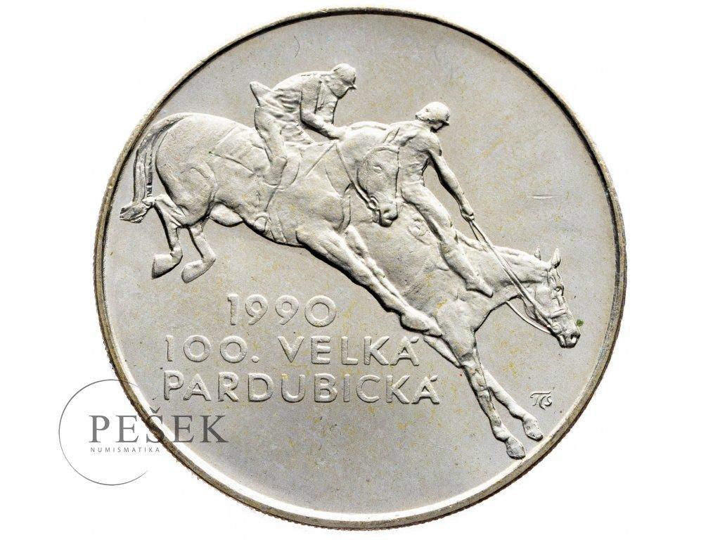 7464 100 koruna 1990 100 velka pardubicka