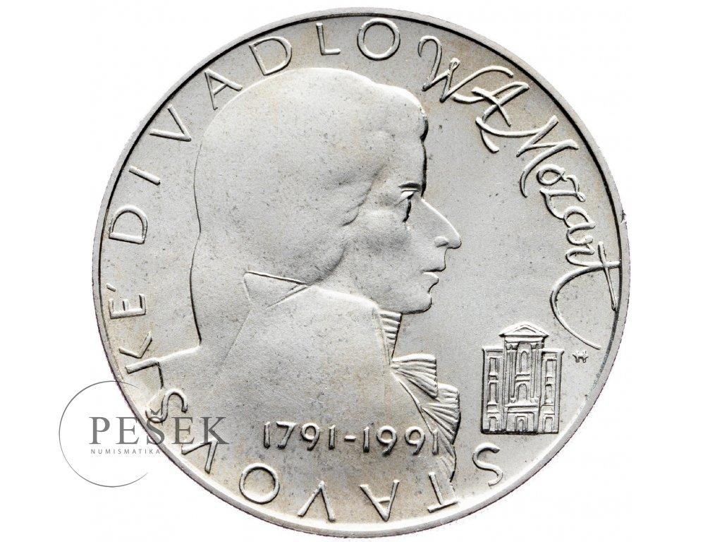 7476 100 koruna 1991 stavovske divadlo w a mozart