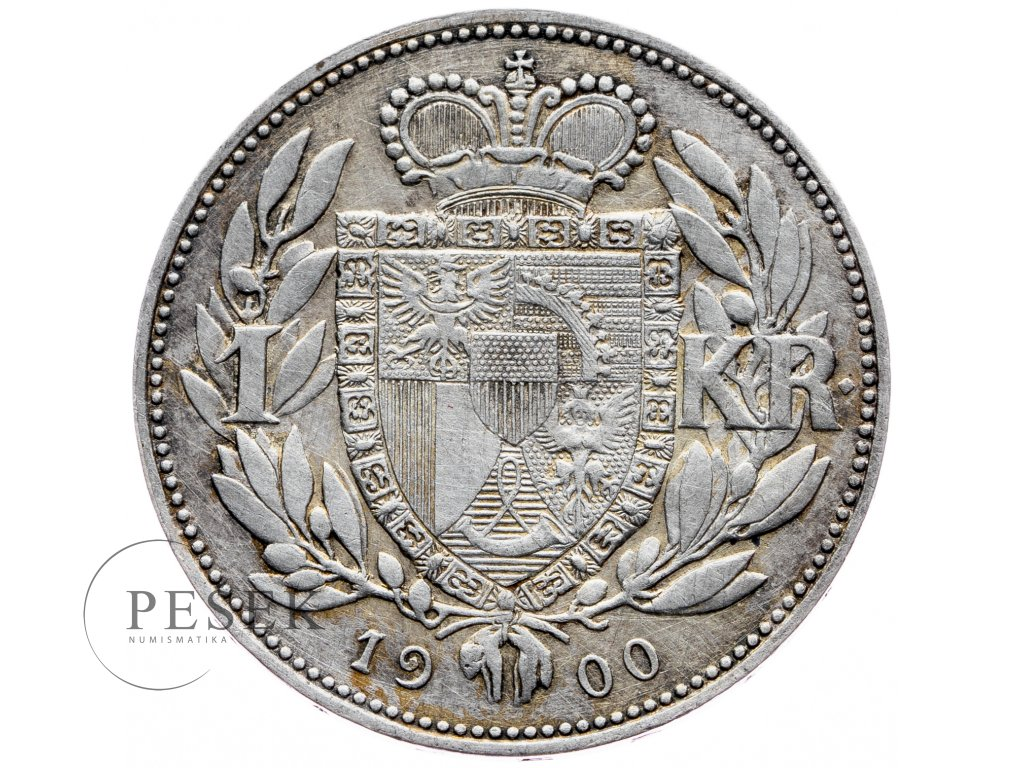 7713 1 koruna 1900