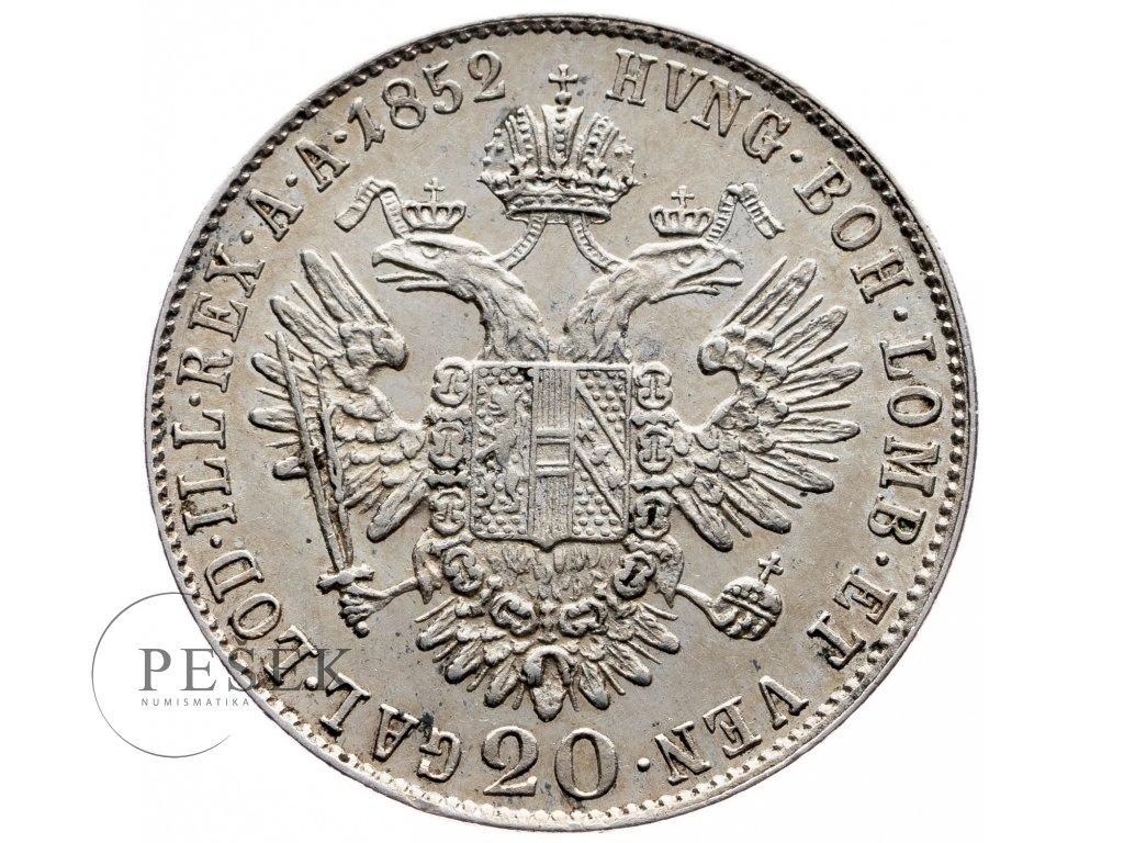 7806 20 krejcar 1852 b