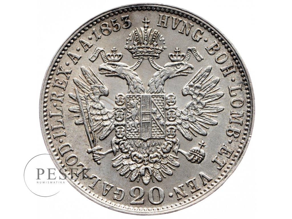 7809 20 krejcar 1853 a