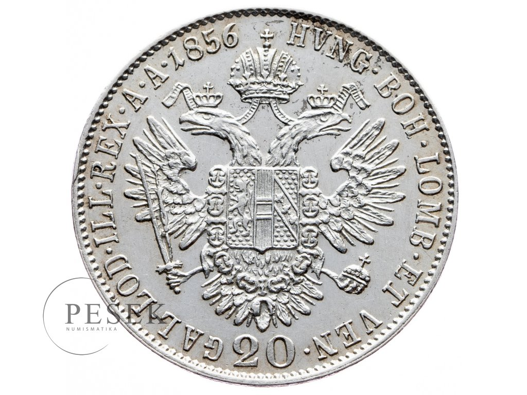 7821 20 krejcar 1856 b