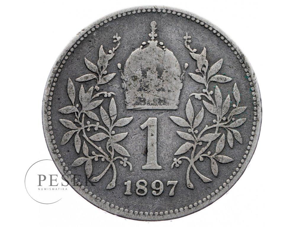 8118 1 koruna 1897 bz