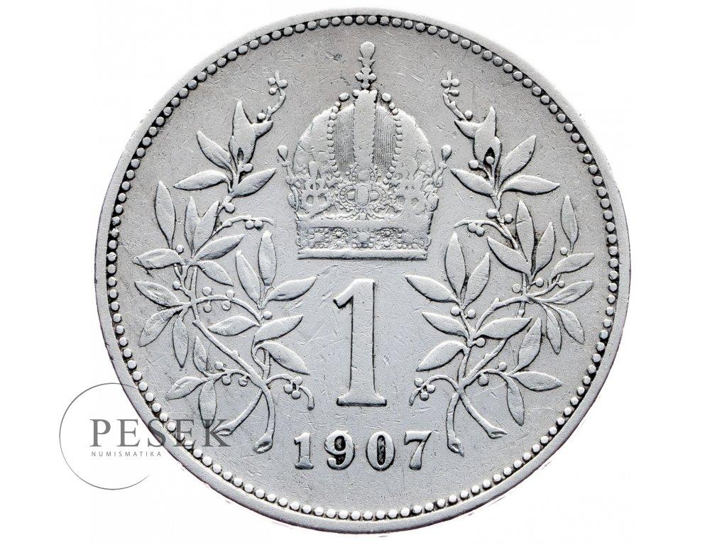 8154 1 koruna 1907 bz