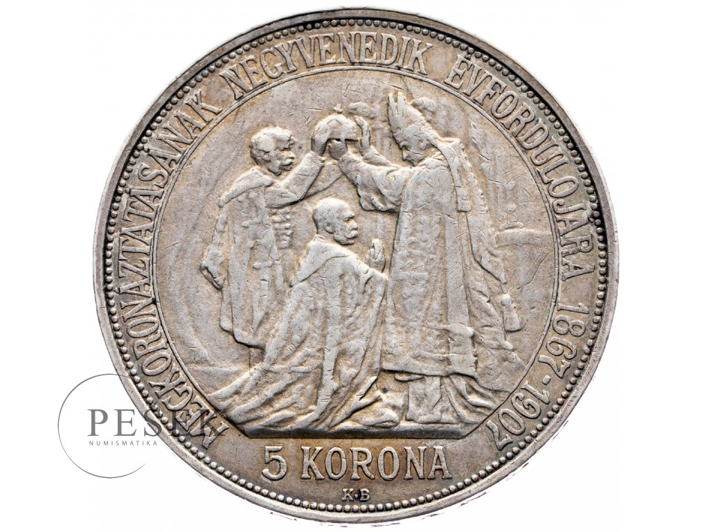8235 5 koruna 1907 kb korunovace