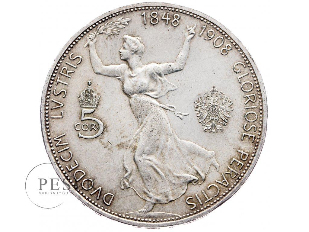 8244 5 koruna 1908 jubilejni