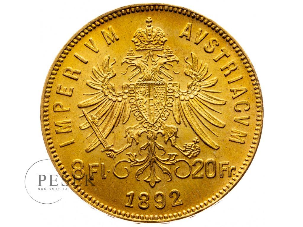 8406 8 zlatnik 1892