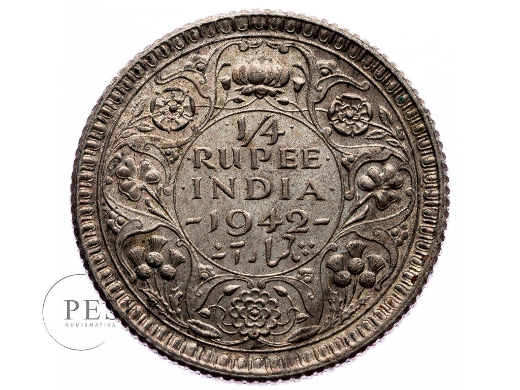 8706 1 4 rupee 1942