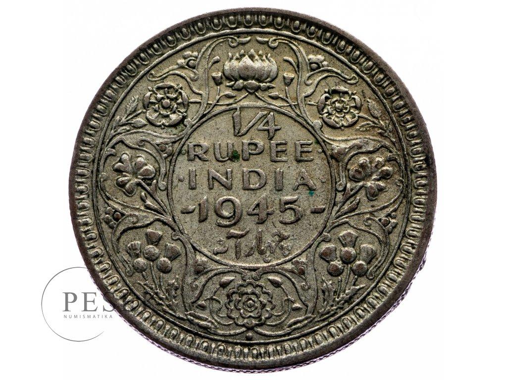 8709 1 4 rupee 1945