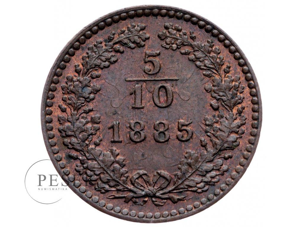 8892 5 10 krejcar 1885