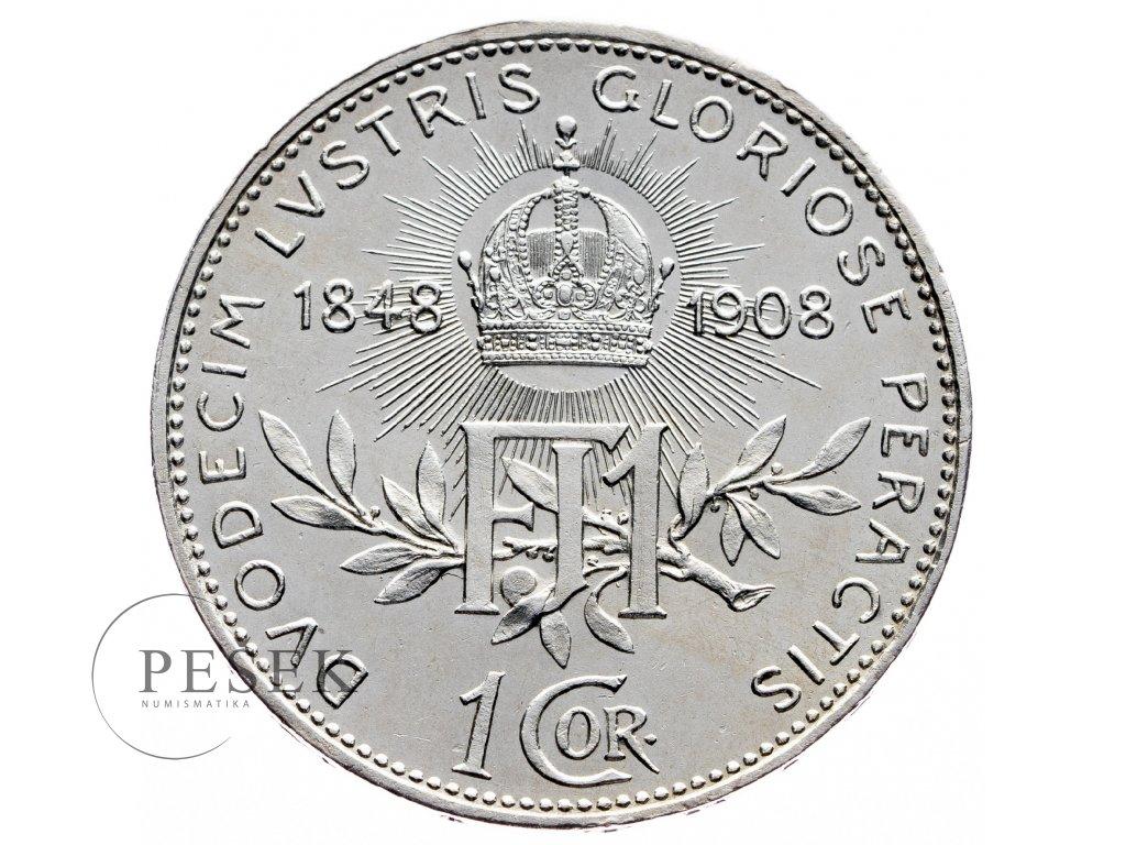 8922 1 koruna 1908 jubilejni