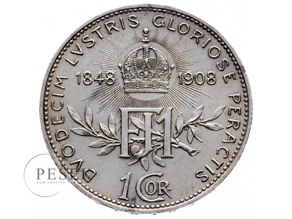 8925 1 koruna 1908 jubilejni