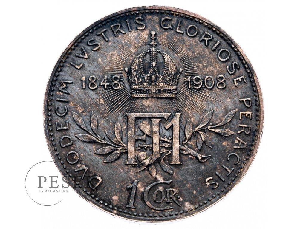 8931 1 koruna 1908 jubilejni