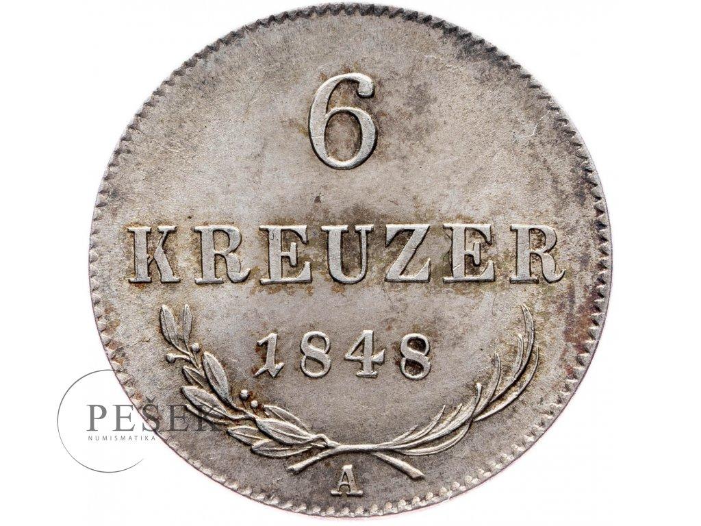 6 Krejcar 1848 A