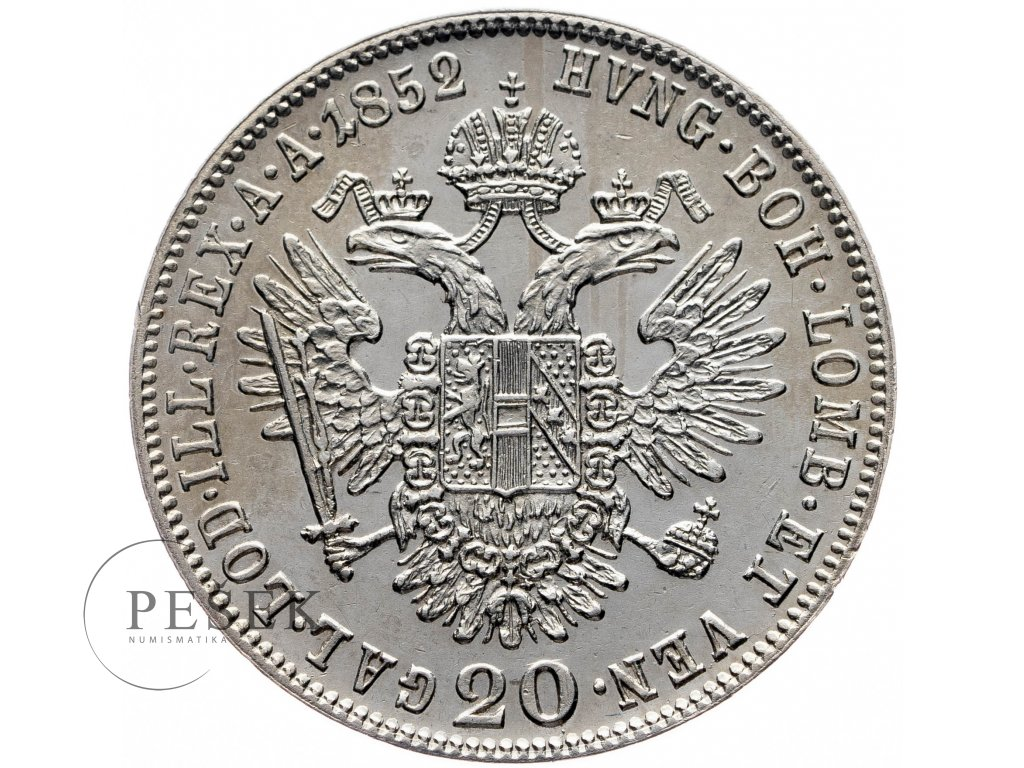 20 Krejcar 1852 A