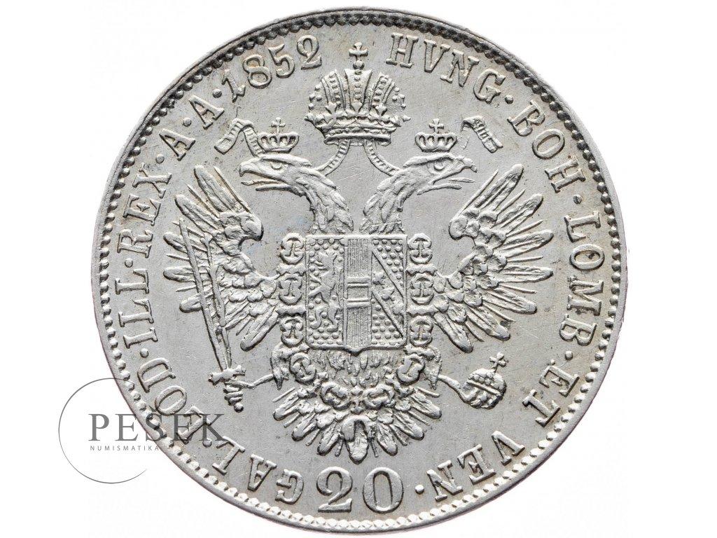 20 Krejcar 1852 B