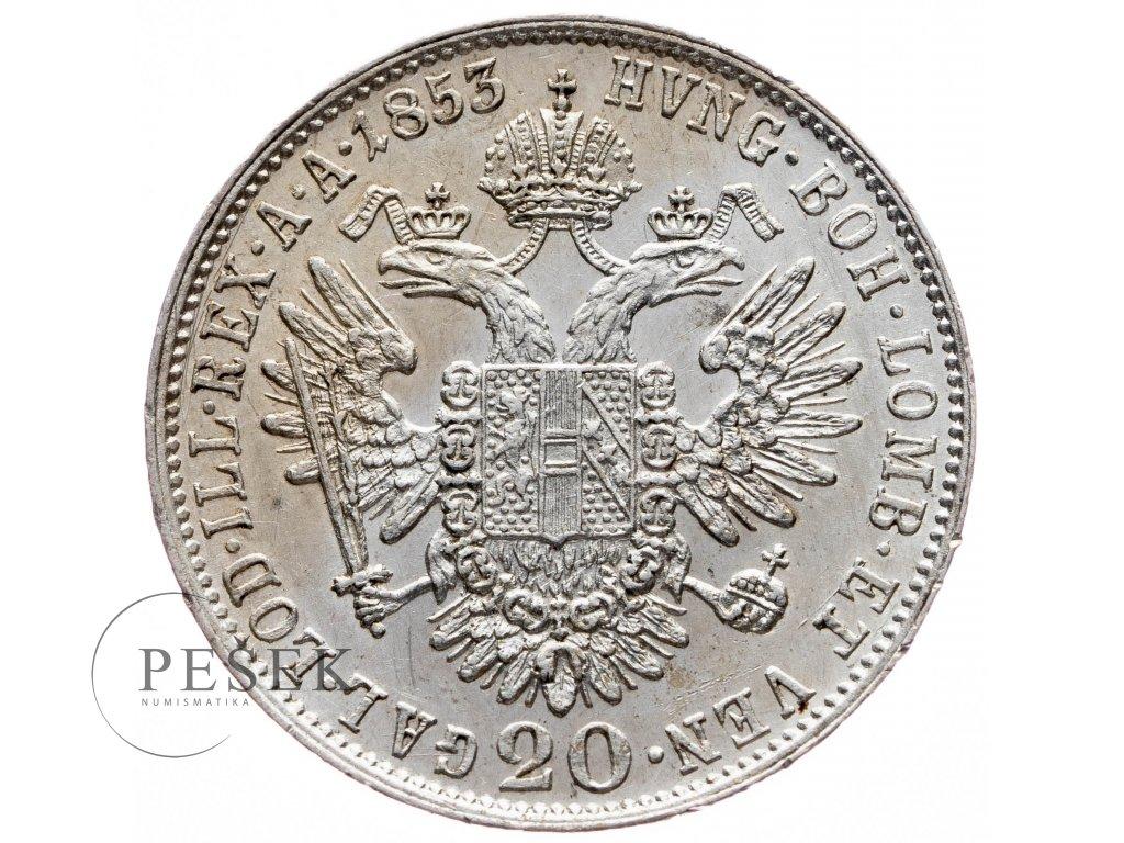 20 Krejcar 1853 A