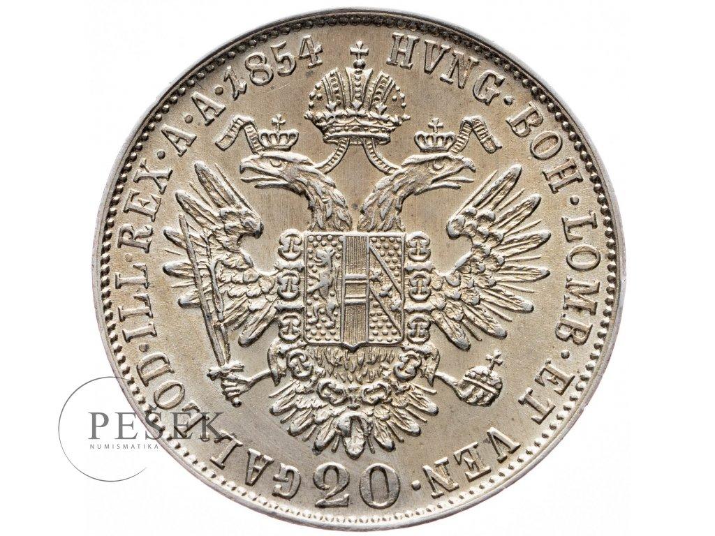 20 Krejcar 1854 A