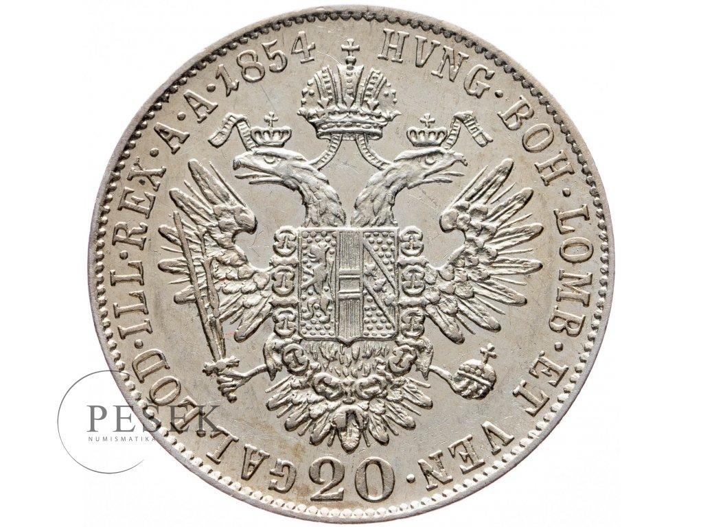 20 Krejcar 1854 B