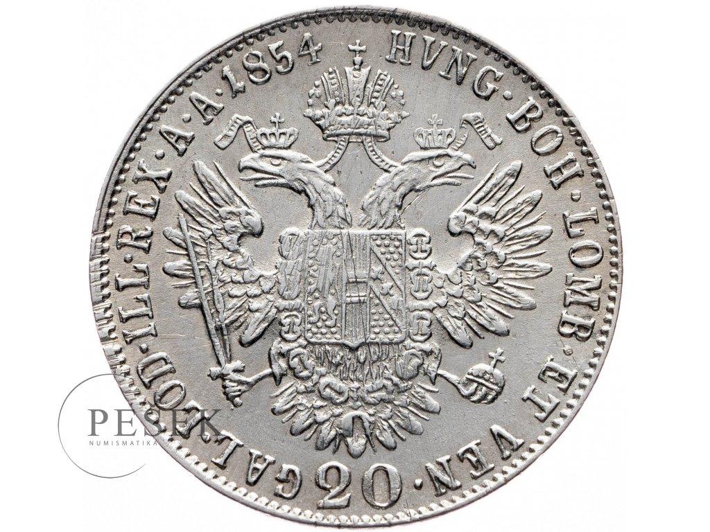 20 Krejcar 1854 E