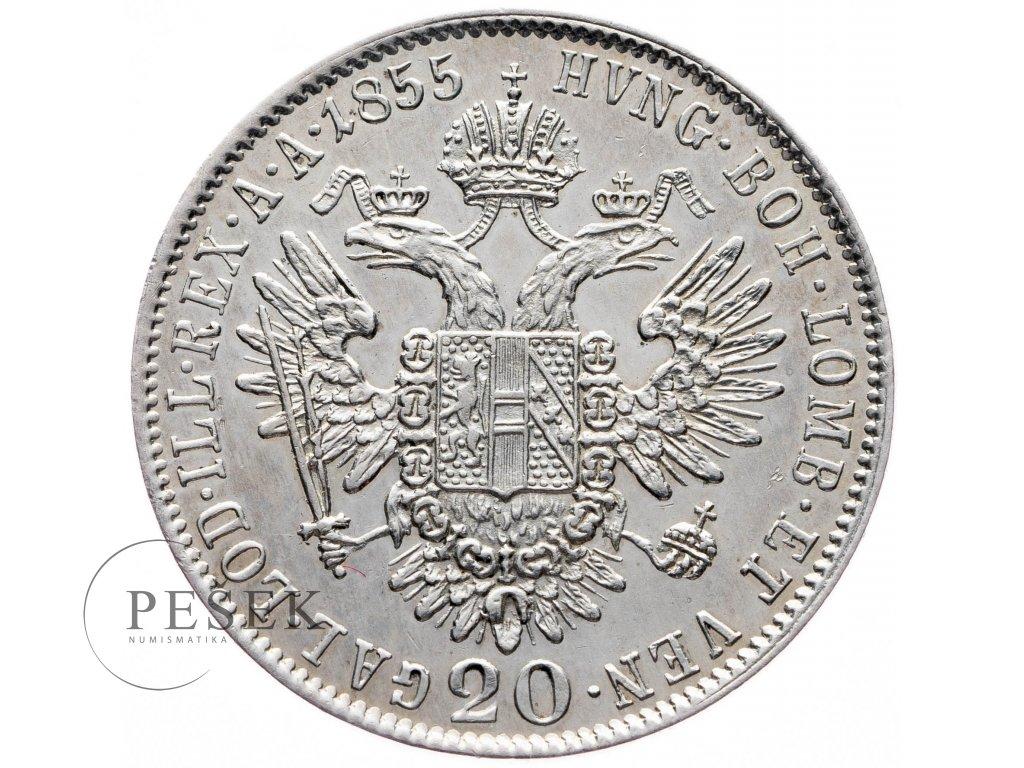 20 Krejcar 1855 B