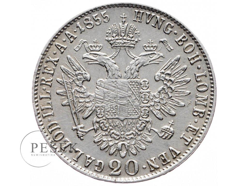 20 Krejcar 1855 E