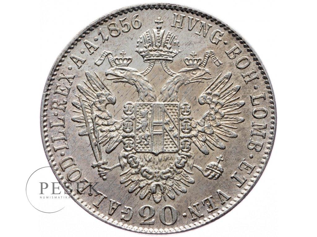 20 Krejcar 1856 B