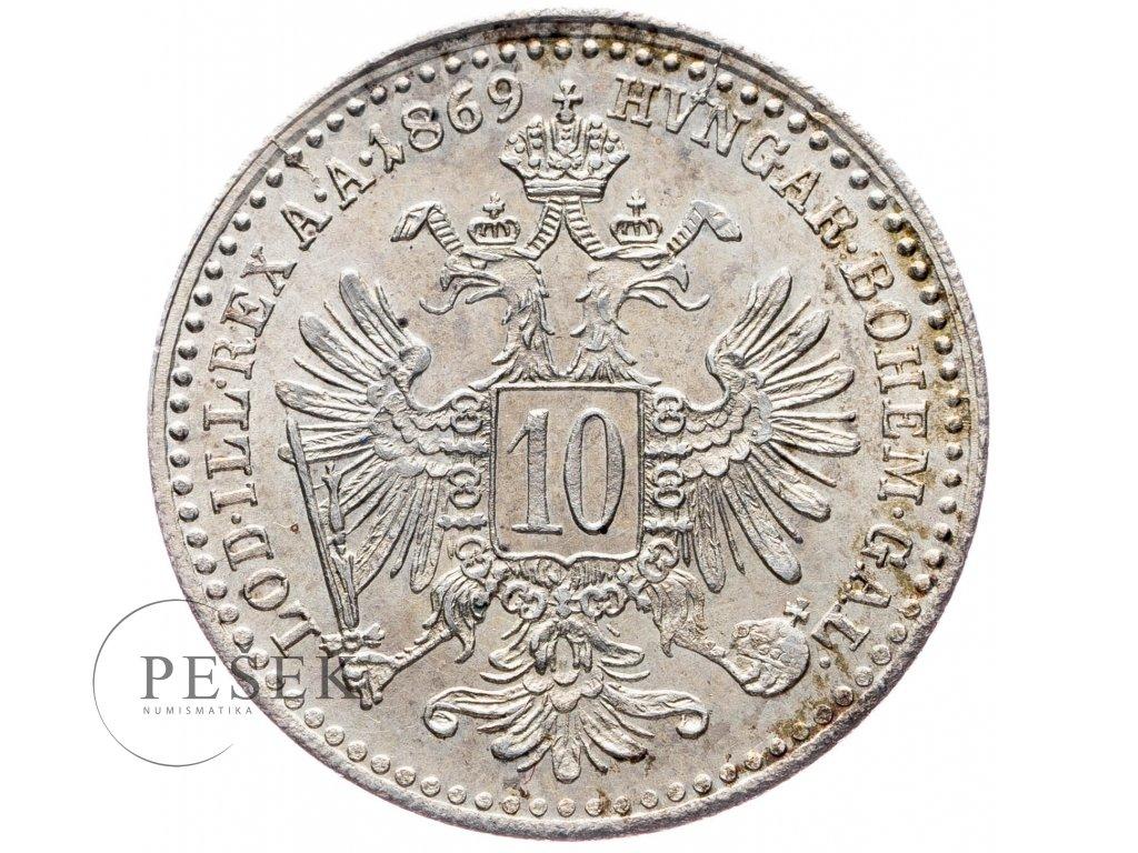 10 Krejcar 1869 bz