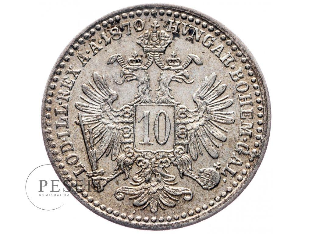 10 Krejcar 1870 bz