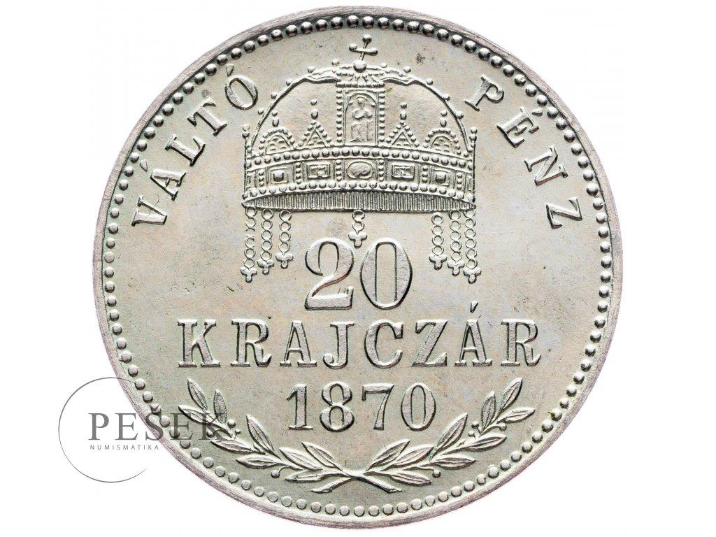 20 Krajczár 1870 KB, Artex