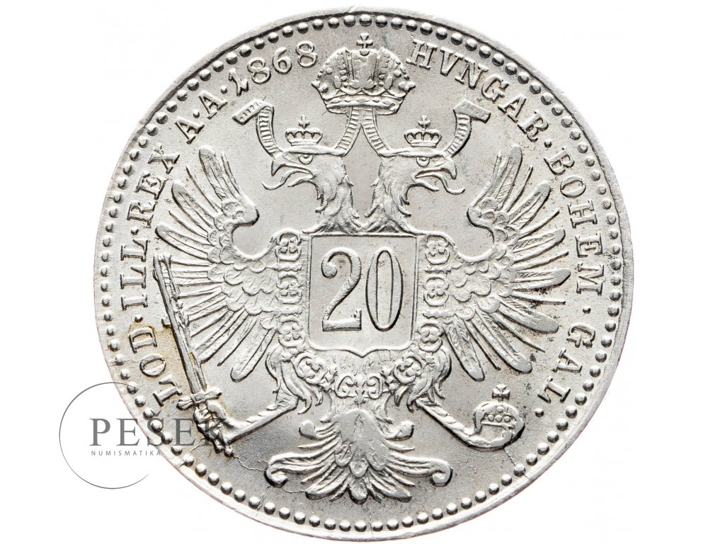 20 Krejcar 1868 bz