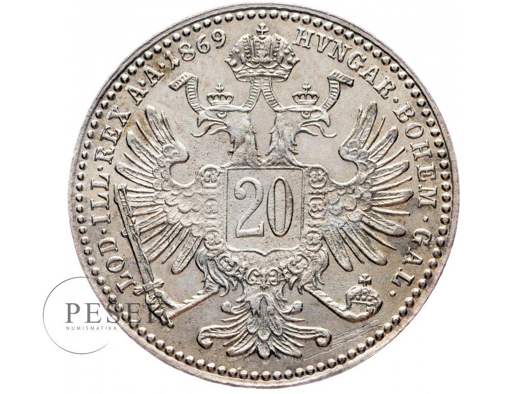20 Krejcar 1869 bz