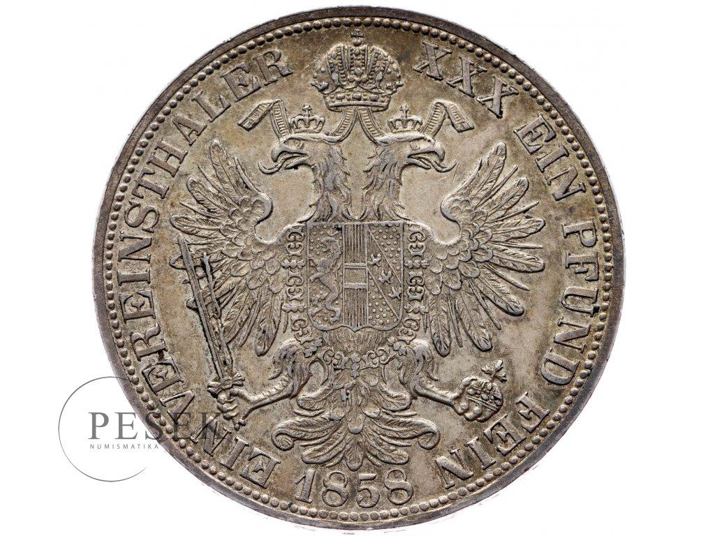 Spolkový tolar 1858 A